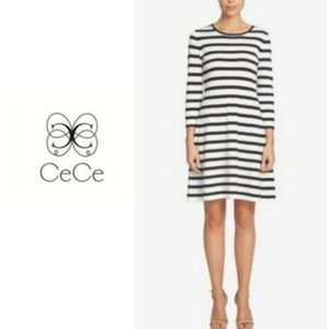 CeCe Sweater Dress with Bow Detail